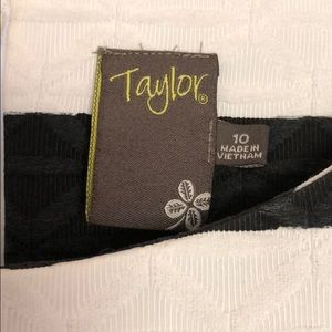 Taylor Dresses - Black & white striped dress